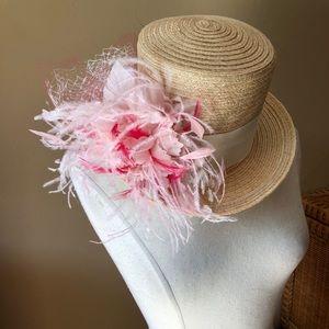 Jill Courtemanche Hat (straw pink)